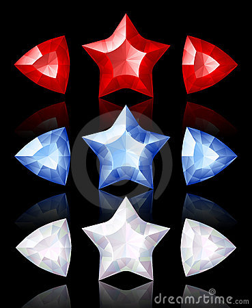Free Jewelry Icons Of Stars And Arrows Royalty Free Stock Image - 9352516