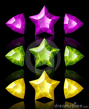 Free Jewelry Icons Of Stars And Arrows Stock Image - 9352551