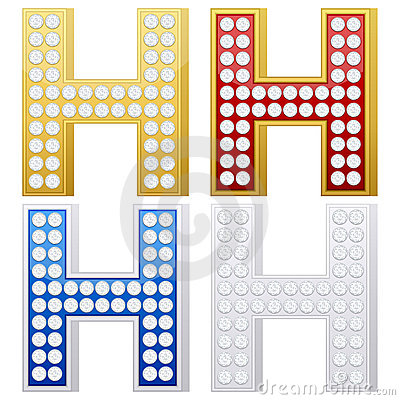 Jewelry letter H