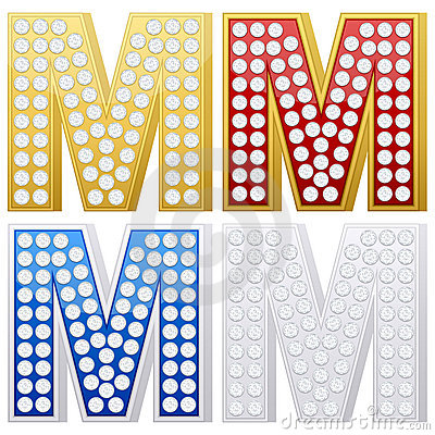 Jewelry letter M
