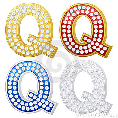 Jewelry letter Q