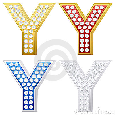 Jewelry letter Y