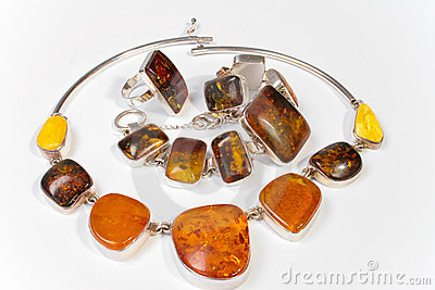 Jewelry made ​​of amber
