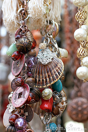 Free Jewels And Amulets Hanging. Shallow Royalty Free Stock Images - 5512209