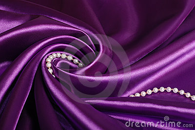 Jewels on purple satin