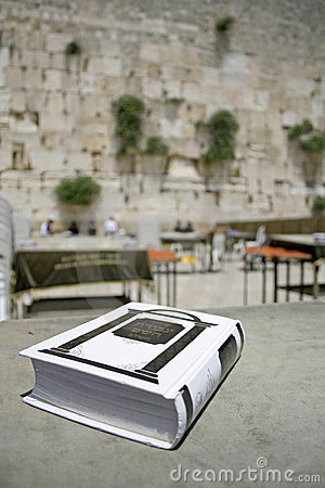 Jewish bible on table