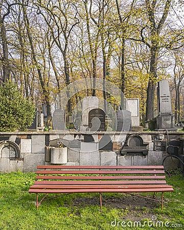 Free Jewish Cemetery Bench Stock Photos - 35296473