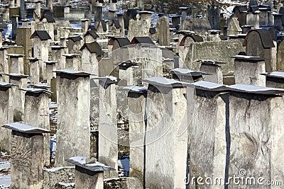 Jewish Cemetery - Krakow - Poland Editorial Stock Image