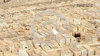 Jewish cemetery on Mount of Olives in Jerusalem Editorial Stock Image