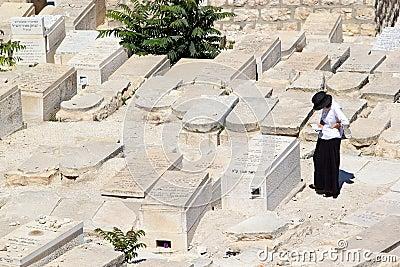 Jewish cemetery Editorial Stock Image