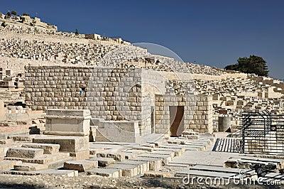 Jewish cemetery view.