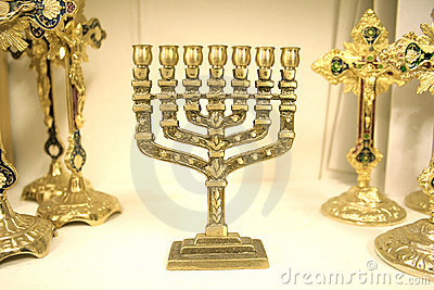 Jewish chandelier menorah