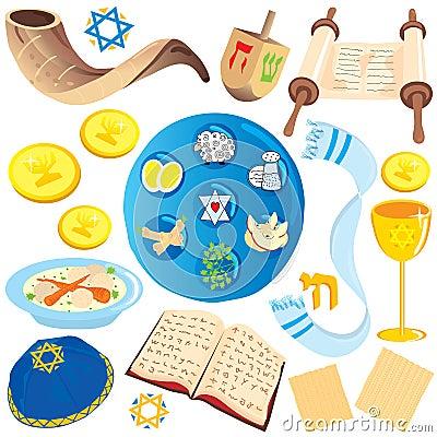 Jewish clip art icons