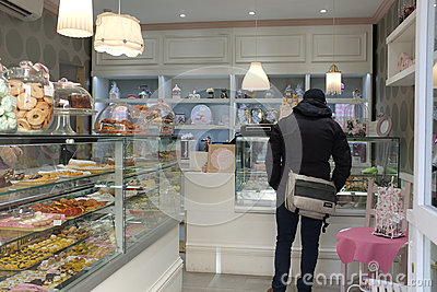 Jewish confectionery in Rome Editorial Stock Image