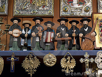 Jewish Figures - Krakow - Poland Editorial Photo