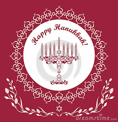Jewish Hanukkah holiday vector background