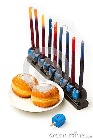 Jewish holiday Hanukkah symbols