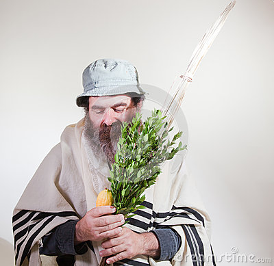 Jewish Male With Religious Items
