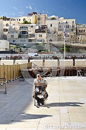 Jewish man praying Editorial Image