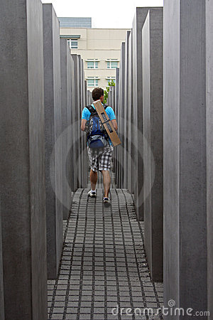 Jewish memorial monument Editorial Stock Photo