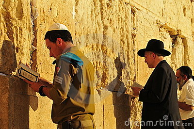Jewish men praying Editorial Photo