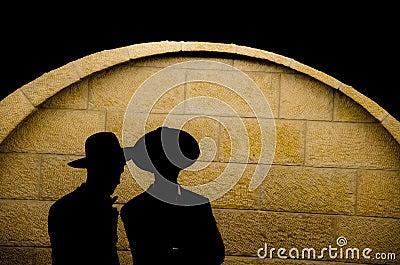 Jewish orthodox silhouette