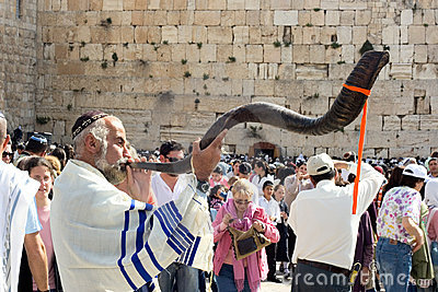 He Jewish Pesach celebration at the Wailing Wall Editorial Image