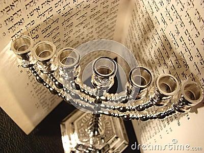 Jewish religious symbol Menorah