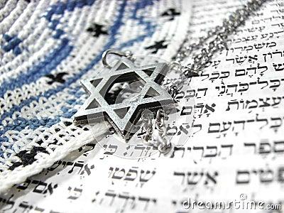 Jewish religious symbols closeup 2