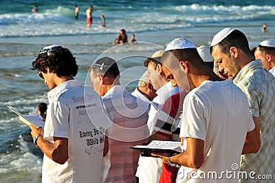 The Jewish Ritual - Tashlich Editorial Stock Photo
