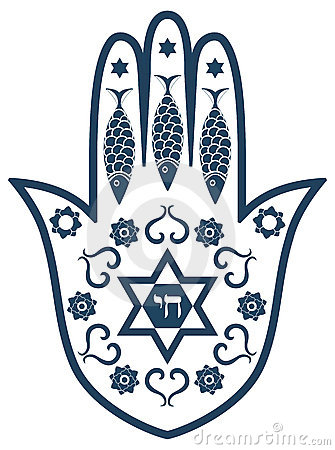 Jewish sacred amulet - hamsa or Miriam hand