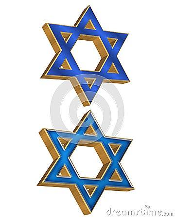Jewish Star 2 styles 3D