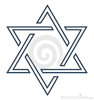 Jewish star design on white background -vector