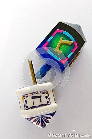 Jewish traditional Hanukkah dreidel