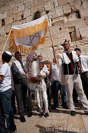 Free Jewish Worshippers At Western Wall Stock Photography - 22706872