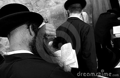 Jews at the wailing western wall, jerusalem, israe Editorial Photo