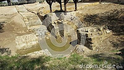 Jezusowy chrzczenie, jordan, podróż, ziemia święta zbiory
