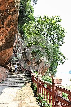 Jiajiang thousand Buddha cliff in sichuan,china Editorial Image