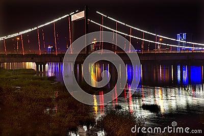 Jiangqun Bridge Night Fushun China