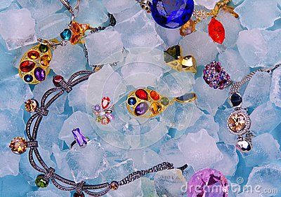 Jóias no gelo