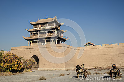 Jiayuguan castle, west end of Great Wall