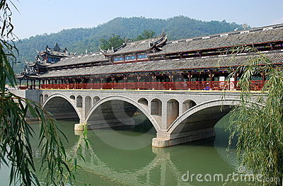 Jie Zi Ancient Town, China: Ruilong Bridge