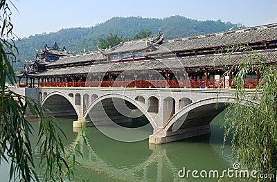 Jie Zi Ancient Town, China: Ruilong Bridge