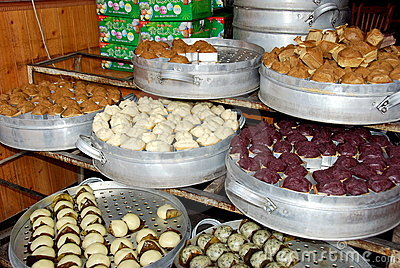 Jie Zi Ancient Town, Chinsa: Dong Gao Dumplings Editorial Image