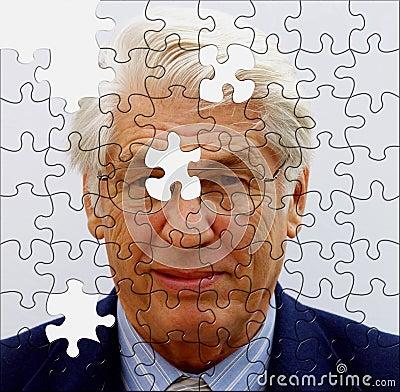 Jigsaw businessman