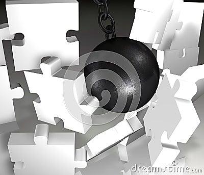 Jigsaw Demolition closeup