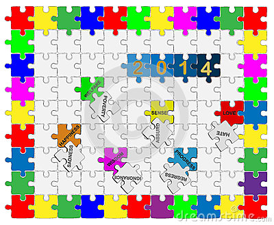7   Jigsaw drop-down puzzle  2014  - Wishful Thinking