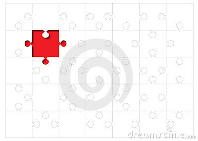 Jigsaw outline concept