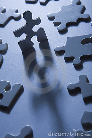 Free Jigsaw Pieces With Dramatic Light Royalty Free Stock Photo - 12200485