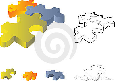 Jigsaw puzzle: 3d icon
